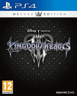 Ps4 Kingdom Hearts 3 Iii Deluxe Edition Limited Pin Steelbook Artbook Pal Ita