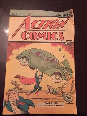 1976 Action Comics One 1 Sleeping Bag Reprint Nm First Superman