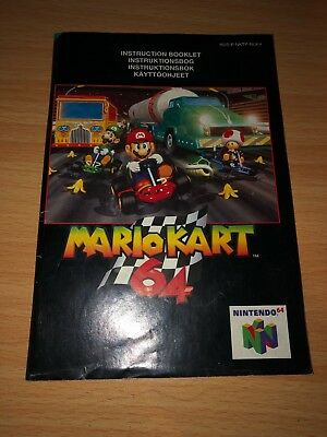 Mario Kart N64 Instruction Manual ONLY