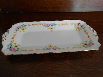 Vintage  Tuscan China England Plant Floral Tray 11''