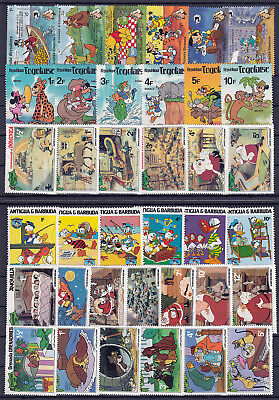 WALT DISNEY CARTOON STAMPS Collection packet of 360 Different Stamps MNH