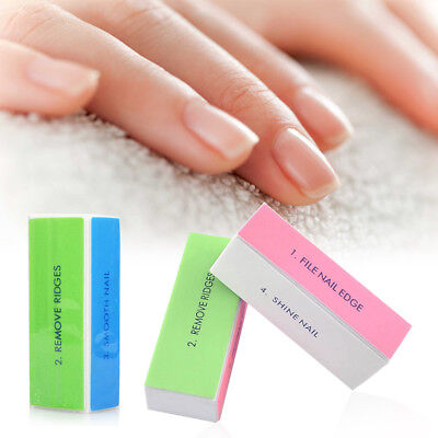 Professional Womens 4 Way Nail File Buffer Polishing Block Four Art