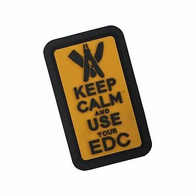 Keep Calm & Use Your EDC 3D Rubber Patch GELB