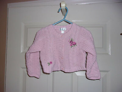 Childrens Place Girls Sweater Size 12 Mos Cotton Blend Pink