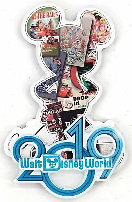 Walt Disney World Parks Mickey Mouse Silhouette Ride Poster Collage 2019 Magnet