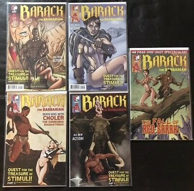 BARACK THE BARBARIAN #1a/b, 2, 3 + One Shot Special