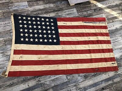 Rare WW2 USA flag, Used In Normandy Battle