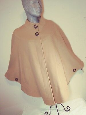 5b56fed2f94 Helene Berman London Women s NWT Camel Colored Wool Cashmere Blend Cape  Poncho L