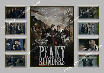 Peaky Blinders A4 In Black Or White Cillian Murphy Tom Hardy Signed Print