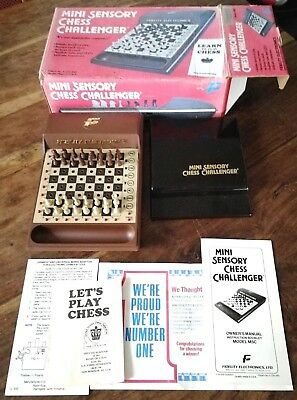 Vintage Fidelity electronics Mini sensory chess challenger game spares/repair