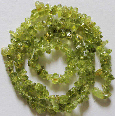6-8mm Natural Peridot Chips Beads Jewelry Gemstone Freeform Strands 16""