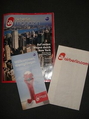 airberlin Magazin April 2014 + Spuckbeutel + Topbonus Flyer  airberlin  oneworld