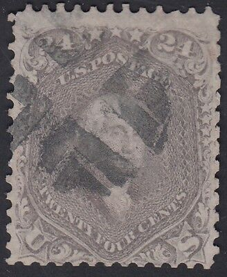 TDStamps: US Stamps Scott#70 24c Washington Used CV$300.00