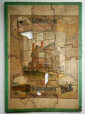 19th Century SHERWIN-WILLIAMS Advertising Puzzle by W.J. Morgan & Co., Cleveland
