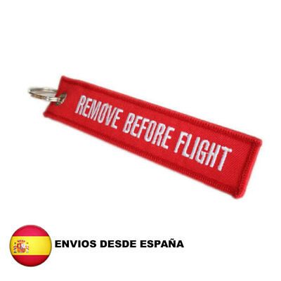 "Llavero ""Quitar Antes De Volar - Remove Before Flight "" Para Equipaje Maletas"
