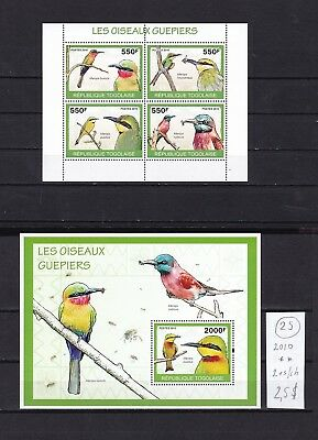 Togo  2010  MNH  two  s/sh  .  Birds.See scan.