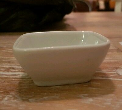 Miniature White Rounded Square Dish - Brand New X 36