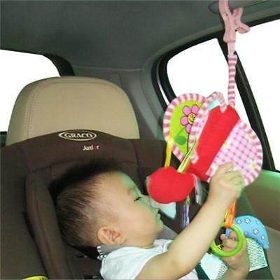 Newborn Baby Kid Animal Rattles Stroller Music Hanging Bell Toy Doll Soft Bed LJ