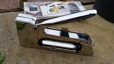 Stapler Staple Gun Rapid 14 Heavy Duty Hand Tacker 140 Size & Free belt punch