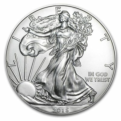 Silver American Eagle Coin 2015 1 oz, Mirror effect 2Pcs