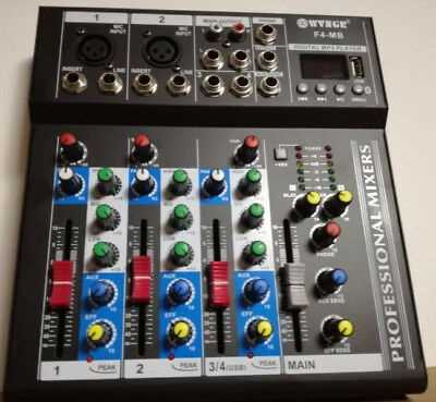 Mixer Passivo Beta Vox Pro , 4 Canali, Bluetooth System Usb, Lettore Mp3.