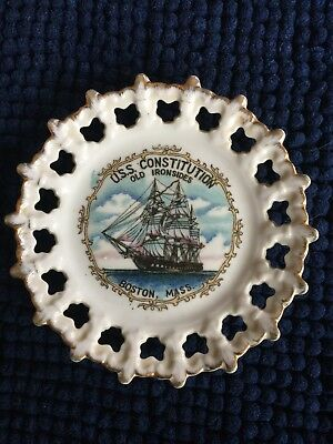 """Uss Constitution Old Iron Sides Commemorative Plate 6"""""""