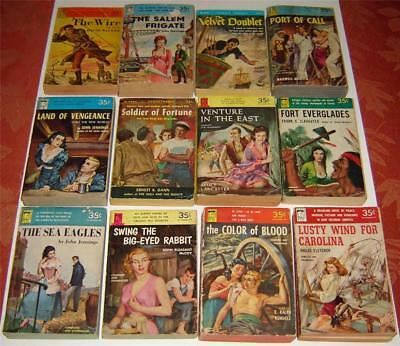 LOT OF (11) VINTAGE PERMA BOOK PAPERBACKS (MOST ARE 1st's, 1950's, GREAT CVRS)