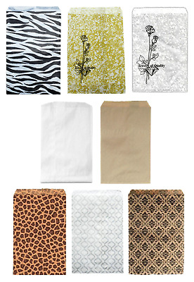 Lot Of 100 Paper Gift Bags  & Jewelry Bags - 5 Colors And 2 Sizes Bags & Pouches