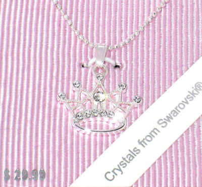 Disney Parks✿Princess Crown Necklace Made with Crystals from Swarovski