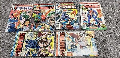 Invaders #4 #5 #7 #8 & Champions #2 #4 Comic Lot(1975) 1ST APPEARANCE UNION JACK