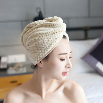 Bathing Salon Product Absorbent Turban Shower Cap Dry Hair Hats Wrapped Towel