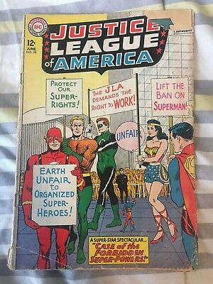 Justice League of America No. 28 VG/F DC June 1964 JLA On Strike Picket Cover
