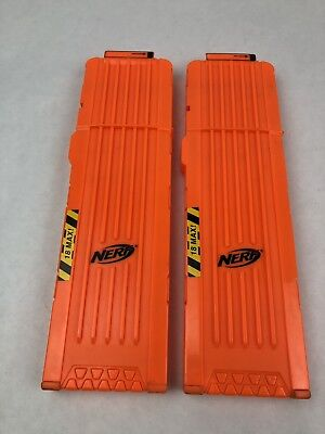 Nerf N-Strike 18 round Magazine Lot Of 2 Clips Replacement Parts and Accessories
