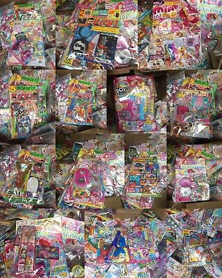 clearance  job lot wholesale 10 magazines with toys gifts etc random mix