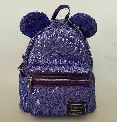 Disney Parks Loungefly Purple Potion Minnie Mouse Ears Backpack Disney World