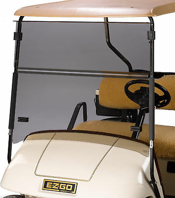 EZGO TXT TINTED Windshield, 4mm Acrylic, Folding Flip Down 1994 & Up