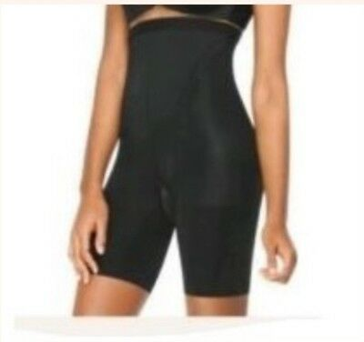 9e73d6f7855 NWOT Spanx Womens In Powerment High Waist Shaper Shorts Mid Thigh Black  Size D