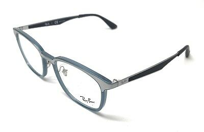 f0ea11ae065 New Ray Ban Rb 7117 8019 Transparent Blue Authentic Eyeglasses Frame 50-19