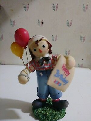"""RAGGEDY ANN & ANDY """"Happiness is a Birthday Shared With  ~ Simon Schuster Enesco"""