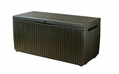 Keter 123 x 53.5 x 57 cm Springwood Outdoor Plastic Storage Box Garden Furniture