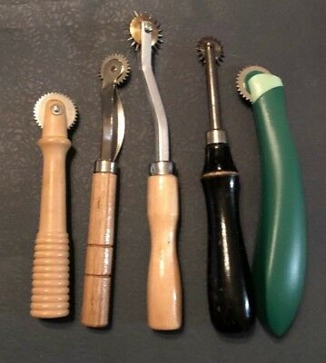 From Vintage to Modern Mix Lot of 5 MARKING TOOL Tracking Wheel Sewing Quilting