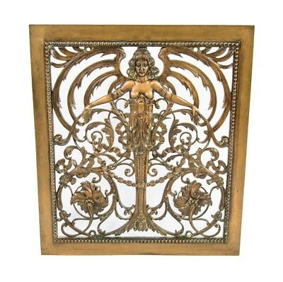 Bronze Interior Grand Central Terminal Figural Wall-Mount Air Ventilation Grille