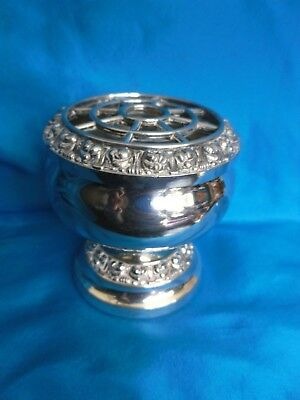 Ianthe of England Silver Plated mini rose or posy holder, table centre etc VGUC