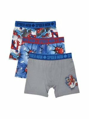 Marvel Spiderman 3-Pack Boys Athletic Boxer Briefs - Size 10