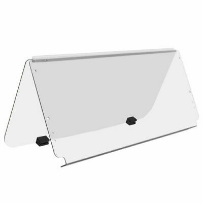Club Car DS CLEAR Windshield, 4mm Acrylic, Folding Flip Down, 1982-2000.5