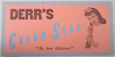 Derr's Cream Soda advertising sign near mint early 1900's