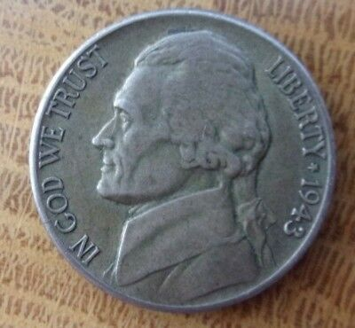 1943 S Jefferson Nickel - 5 Cent Coin - Circulated