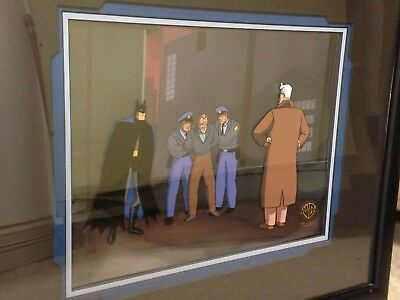 """Batman: The Animated Series """"the Cape And Cowl Conspiracy"""" Production Cel W/ Coa"""