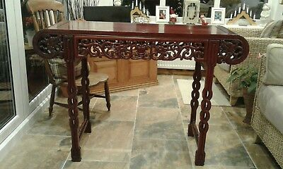 Chinese Hardwood Carved Dragons  Altar Table Console Table Rosewood