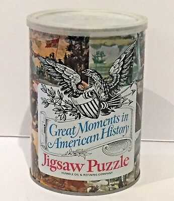 VTG 1969 Humble Oil Great Moments In American History Puzzle Paul Revere SEALED